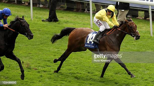 Yaa Wayl ridden by Philip Robinson wins the Sky Bet City of York Stakes during the Yorkshire Ebor Festival at York Race Track on August 20 2010 in...