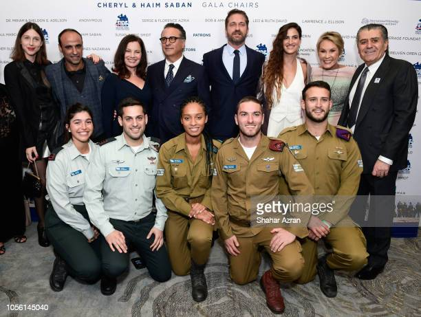 Yaakov Daniel Fran Drescher Andy Garica Gerard Butler RonaLee Shimon Cheryl Saban and Haim Saban and IDF soldiers attend Friends of The Israel...