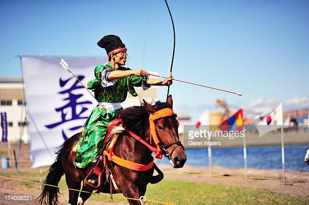 CONTENT] Yabusame is Japanese archery on horseback This contest is held on a beach in Aomori Japan every September Some competitors from other...