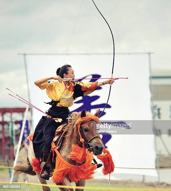 CONTENT] Yabusame Japanese horseback archery The archer rides at full gallop and must try and shoot a small target about 6 meters away Easier said...