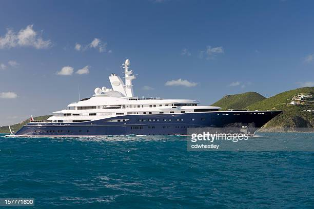 yacht 'Al Mirqab' passing by Saint Martin on January1st 2010