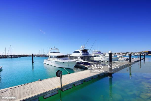 yacht harbour, geraldton, western australia - small boat stock pictures, royalty-free photos & images