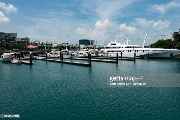 Yacht horbor in Keppel Island in Singapore
