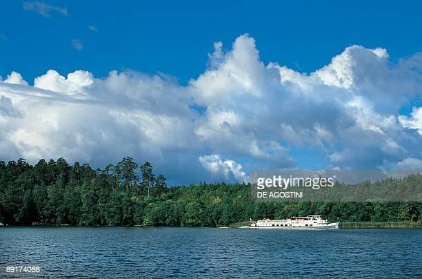 Yacht in a lake Masuri Poland