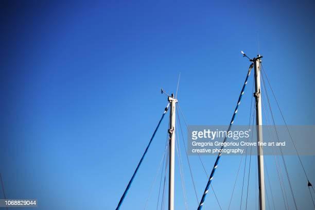 yacht mast - gregoria gregoriou crowe fine art and creative photography. stockfoto's en -beelden