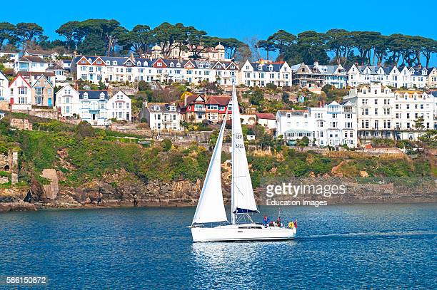 A Yacht On The River Fowey In Cornwall England Uk