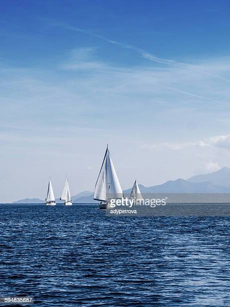 yacht race, Thassos, Greece