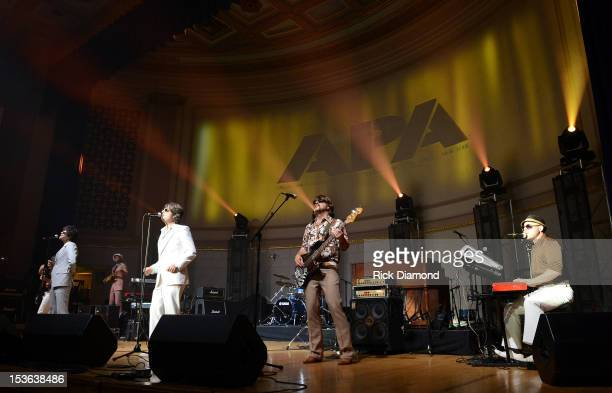 Yacht Rock Revue performs during APA Party at IEBA Conference Day 1 at the War Memorial Auditorium on October 7 2012 in Nashville Tennessee