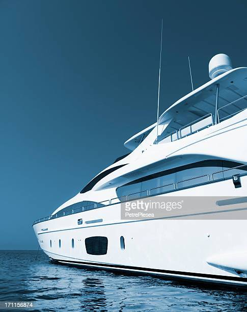 yacht, sea and sky. perfect shape. - luxury yacht stock pictures, royalty-free photos & images