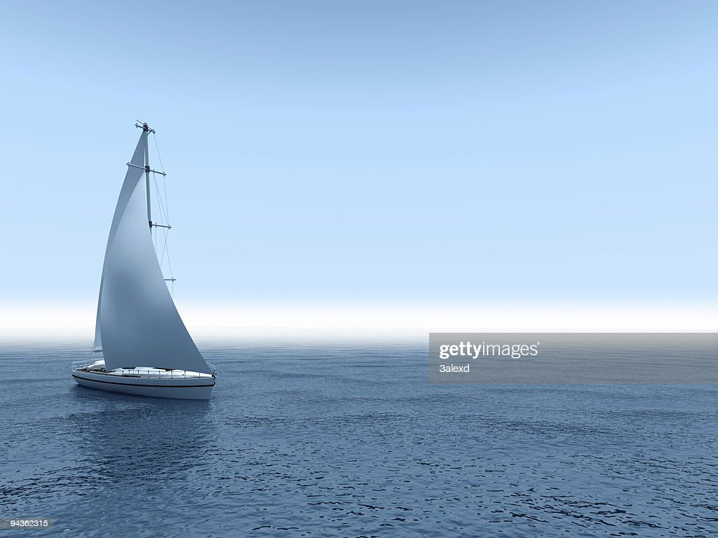 Yacht sea. : Stock Photo