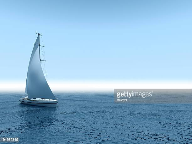 yacht sea. - sailor stock pictures, royalty-free photos & images