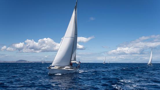 Yachting regatta in the Mediterranean sea 636006016