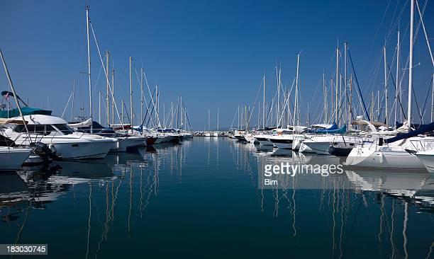 Yachts and Boats at Harbor