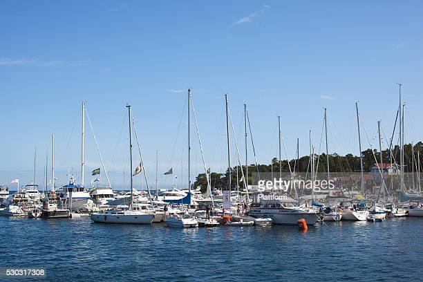 Yachts and sailing boats in harbor