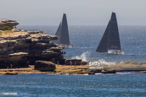 Yachts are seen passing Ben Buckler Point at Bondi Beach on January 26, 2021 in Sydney, Australia. Australia Day, formerly known as Foundation Day,...