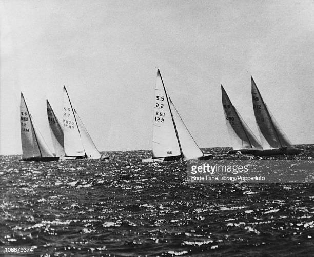 Yachts competing in the 55 Metre class at the 1968 Summer Olympics Acapulco Bay Mexico 18th October 1968 The boats are left to right Fanny of Mexico...