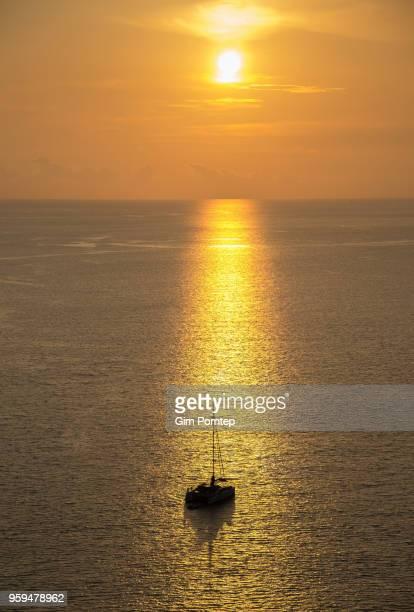 Yachts cruising the sea in Phuket
