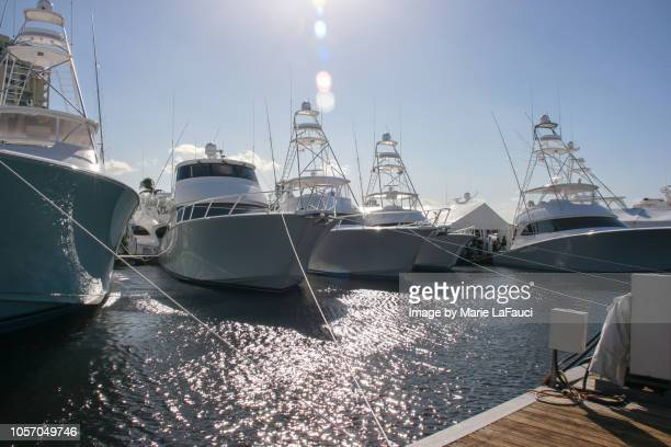yachts docked in marina - moored stock pictures, royalty-free photos & images