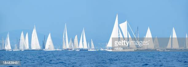 Yachts during the sailing competition