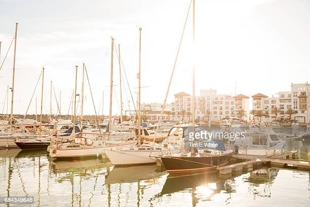Yachts in Agadir harbour, Morocco