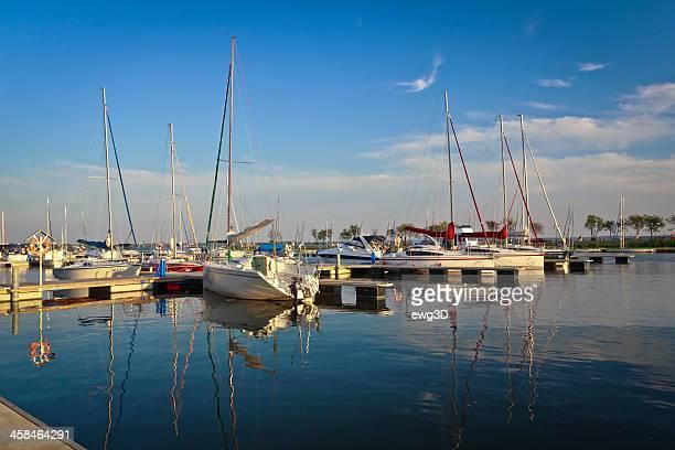 Yachts in Gizycko marina, Poland