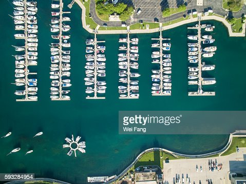 Yachts in Lake Michigan