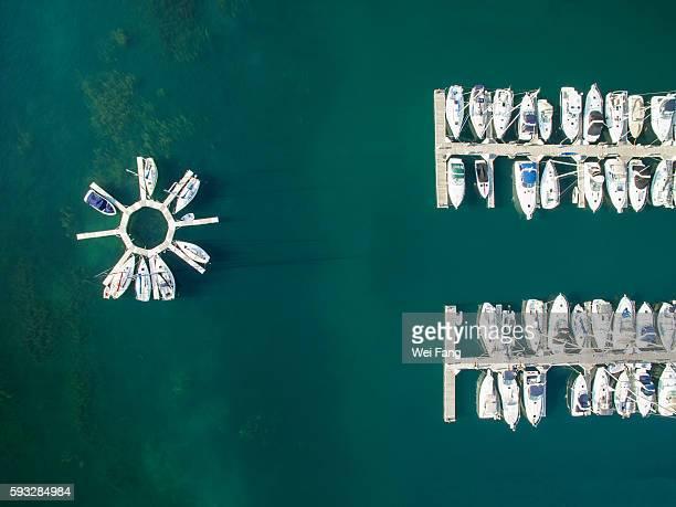 Yachts in Lake Michigan