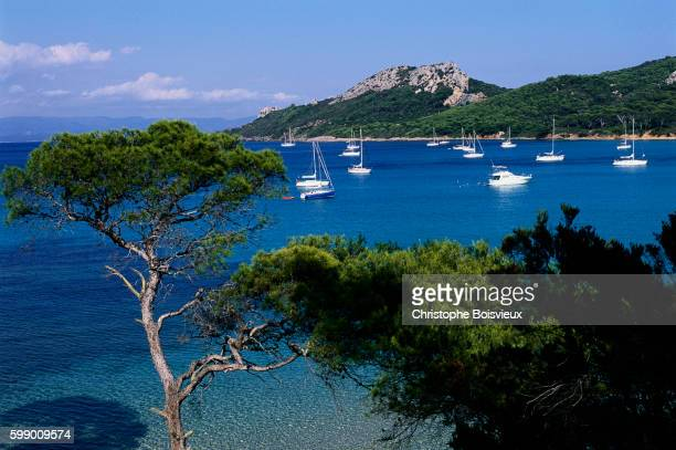 Yachts in the Clear Blue Seas of the Cote d'Azur