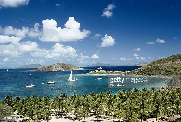 Yachts off the privately owned Peter Island in the British Virgin Islands March 1973