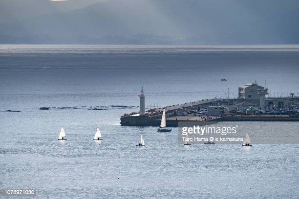 Yachts on Enoshima Shonan Harbor in Fujisawa city in Japan