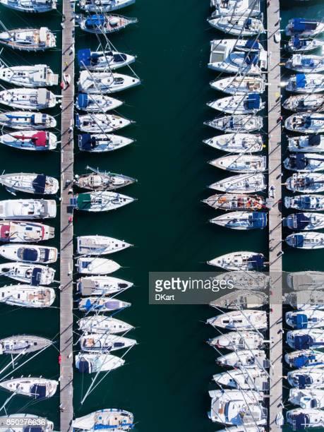 Jachten parking luchtfoto