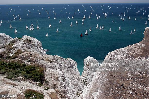 Yachts take part in the JPMorgan Asset Management Round the Island Race The world's largest and most famous yachting race the JPMorgan Asset...