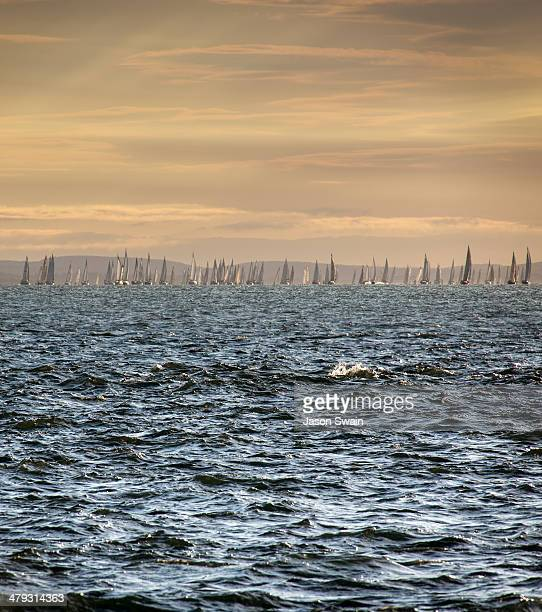 Yachts taking part in the annual 'Round the Island Race' on the Isle of Wight.