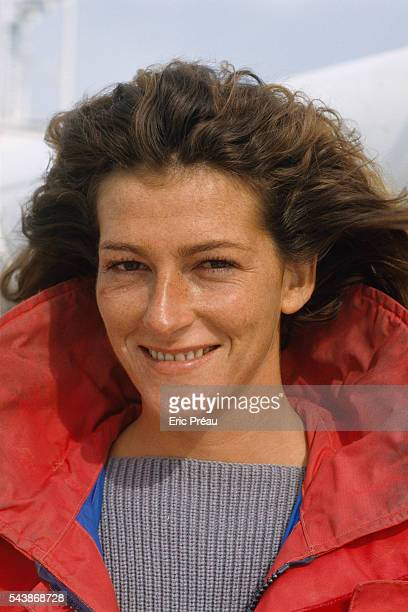 Yachtswoman and race committee member Florence Arthaud prepares for the Jules Verne 'Around the World in 80 Days' Trophy race The race not raced...