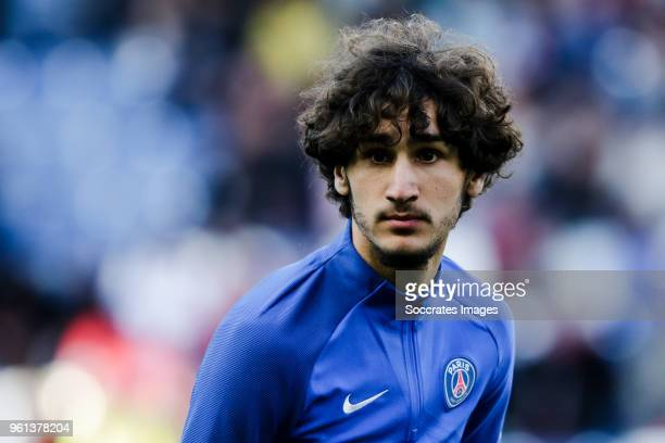 Yacine Adli of Paris Saint Germain during the French League 1 match between Caen v Paris Saint Germain at the Stade Michel d Ornano on May 19 2018 in...