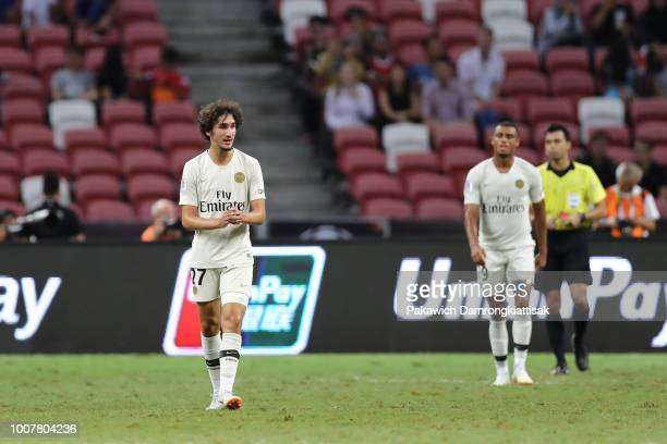 Yacine Adli of Paris Saint Germain during the International Champions Cup match between Paris Saint Germain and Club de Atletico Madrid at the...