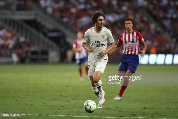 Yacine Adli of Paris Saint Germain goes after the ball during the International Champions Cup match between Paris Saint Germain and Club de Atletico...