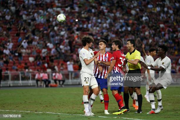 Yacine Adli of Paris Saint Germain reacts after Paris Saint Germain concedes a goal during the International Champions Cup match between Paris Saint...