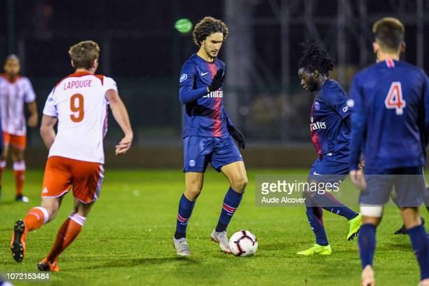Yacine Adli of Psg B during the National 2 match between Psg B and Acbb at Camp des Loges in Saint Germain en Laye on December 1st 2018