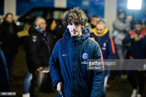 Yacine Adli of PSG during the french League Cup match Round of 16 between Strasbourg and Paris Saint Germain on December 13 2017 in Strasbourg France