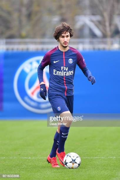Yacine Adli of PSG during the UEFA Youth League match between Paris Saint Germain and FC Barcelona on February 20 2018 in Saint Germain en Laye France