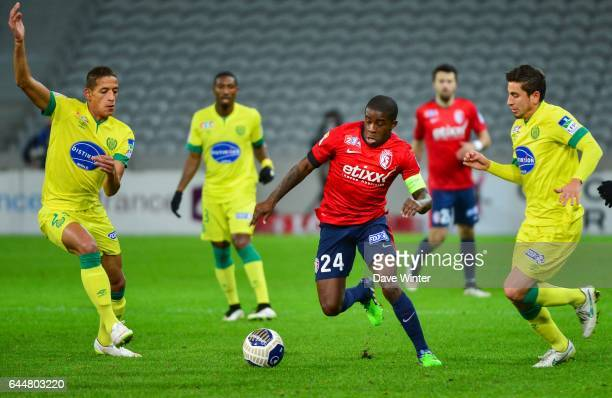Yacine BAMMOU / Florent BALMONT / Alejandro BEDOYA Lille / Nantes 1/4Finale Coupe de la Ligue Photo Dave Winter / Icon Sport