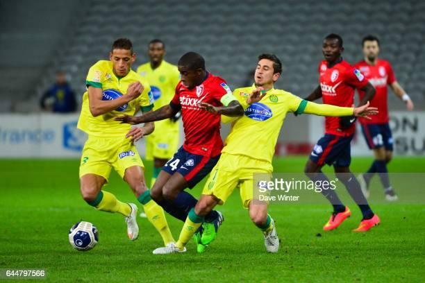 Yacine BAMMOU / Rio MAVUBA / Alejandro BEDOYA Lille / Nantes 1/4Finale Coupe de la Ligue Photo Dave Winter / Icon Sport