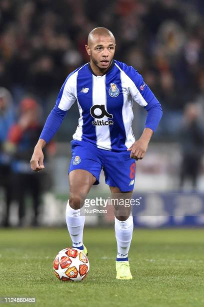 Yacine Brahimi of Porto during the UEFA Champions League round of 16 match between AS Roma and FC Porto at Stadio Olimpico Rome Italy on 12 February...