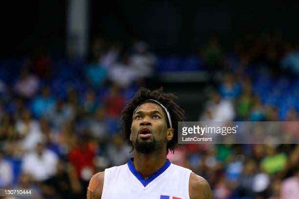 Yack Martinez of Dominican Republic during the Men's Basketball between Brazil and Dominican Republic in the 2011 XVI Pan American Games at CODE Dome...