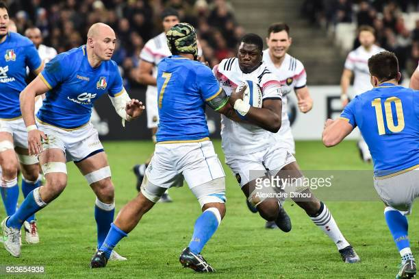 Yacouba Camara of France during the NatWest Six Nations match between France and Italy at Stade Velodrome on February 23 2018 in Marseille France
