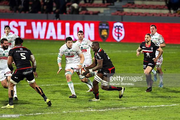 Yacouba Camara of Toulouse during the French Top 14 match between Toulouse and Pau at Stade Ernest Wallon on January 28 2017 in Toulouse France