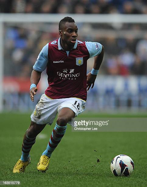 Yacouba Sylla of Aston Villa during the Barclays Premier League match between Reading and Aston Villa at Madejski Stadium on March 9 2013 in Reading...
