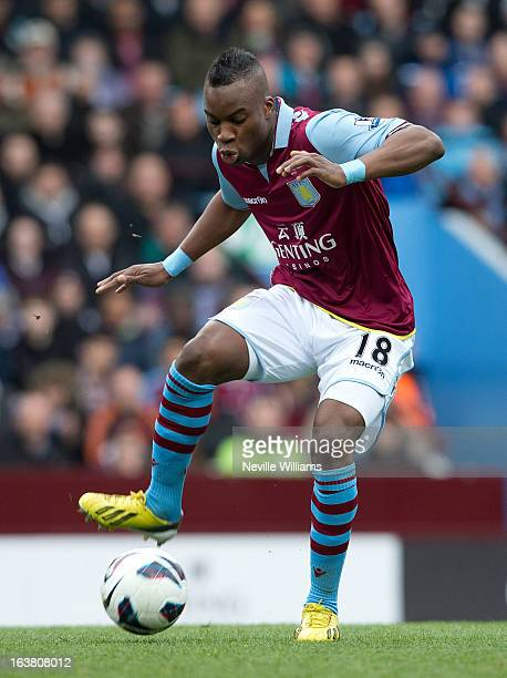 Yacouba Sylla of Aston Villa during the Barclays Premier League match between Aston Villa and Queens Park Rangers at Villa Park on March 16 2013 in...