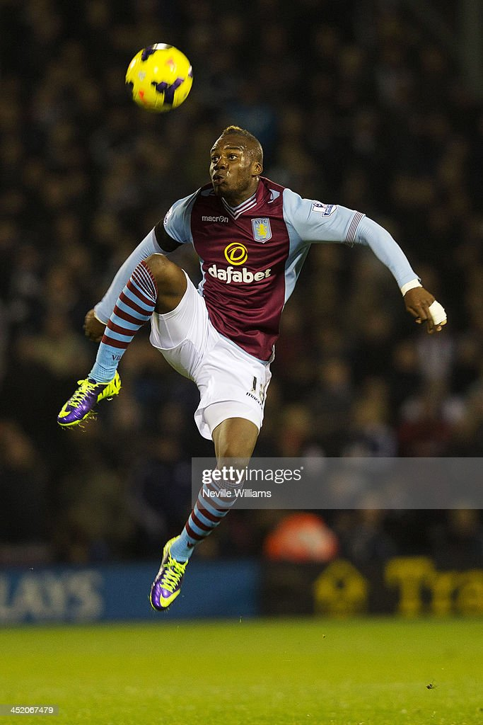 Yacouba Sylla of Aston Villa during the Barclays Premier League match between West Bromwich Albion and Aston Villa at The Hawthorns on November 25, 2013 in West Bromwich, England.